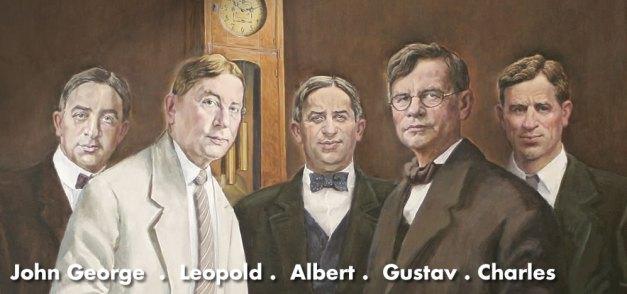 John George, Leopold, Albert, Gustav, and Charles Stickley