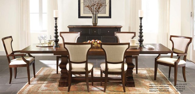 wescott dining table nichols and stone