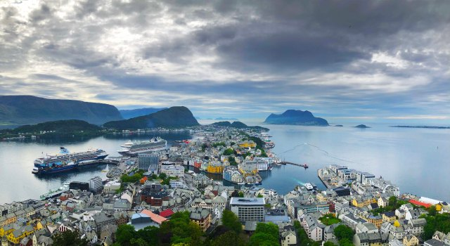 View of Alesund from Mt Aksla
